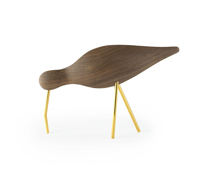 Shorebird noyer / laiton grand modèle