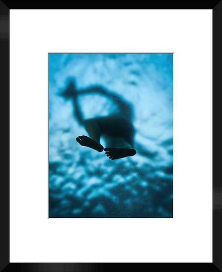 """Photo encadrée """"Le nageur"""" 50x40"""