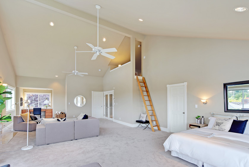 A master bedroom sized for a king