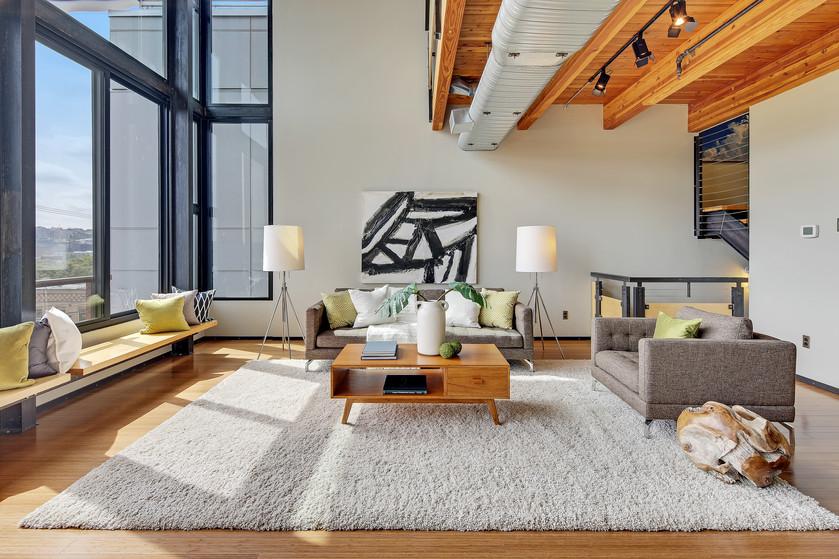 Stunning loft style home overlooking Lake Union