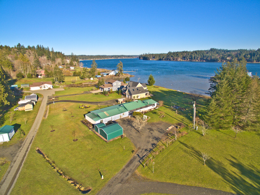 The first shoot of the year was this lovely waterfront property near Shelton