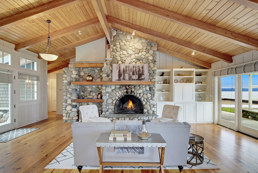 Make sure your chimney game is strong for Santa's visit. This beautiful waterfront house on Cami