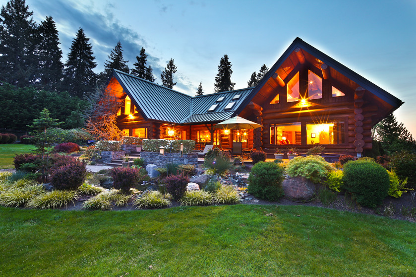 Taking the concept of a log cabin to a whole other level