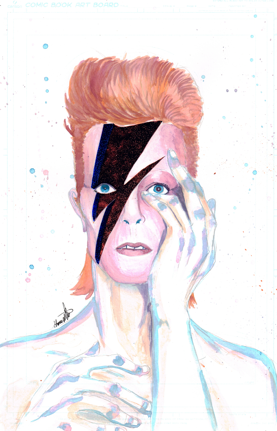 Bowie Mixed Media