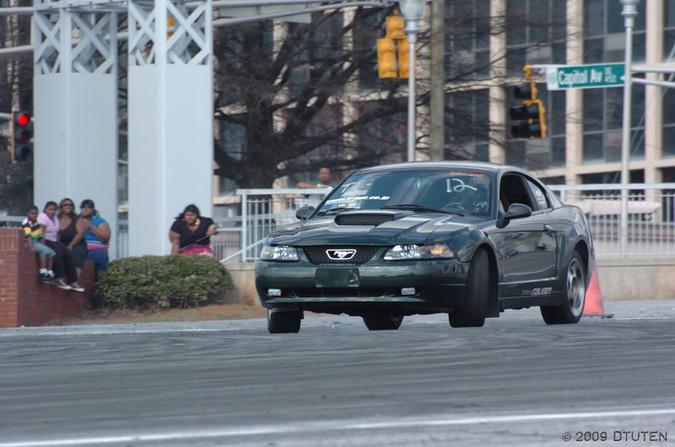 David Drifting 2001 Bullitt at Turner Field