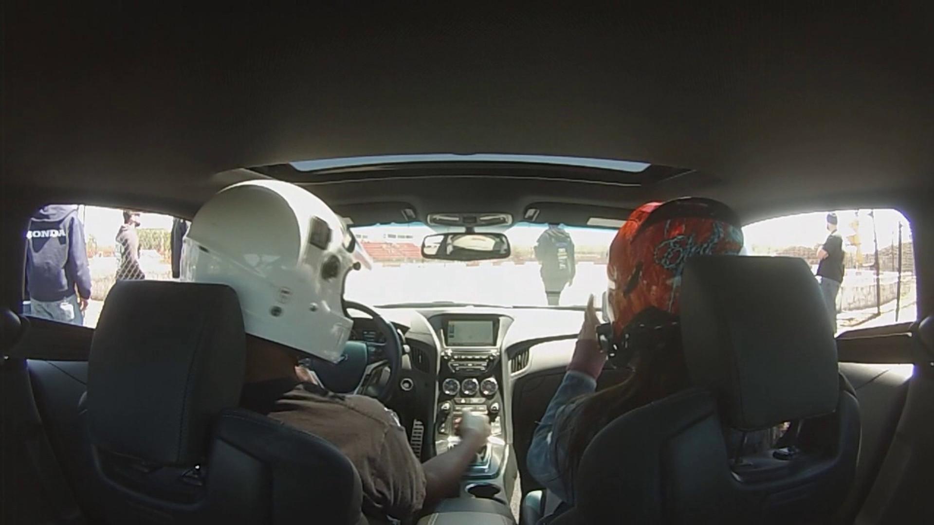 David (In Car) Drifting the 2016 Genesis