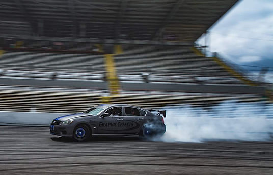 Drift Taxi Driver Barry Clapp in his Infiniti M67
