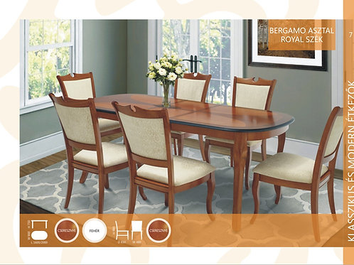 Bergamo Asztal + Royal Szék