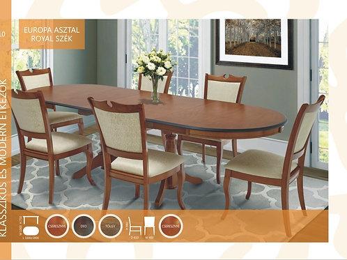Europa Asztal + Royal Szék