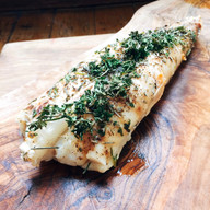 Roasted monkfish with herbs