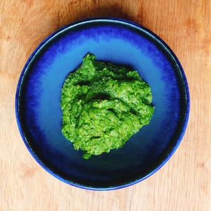 Pistachio and coriander pesto