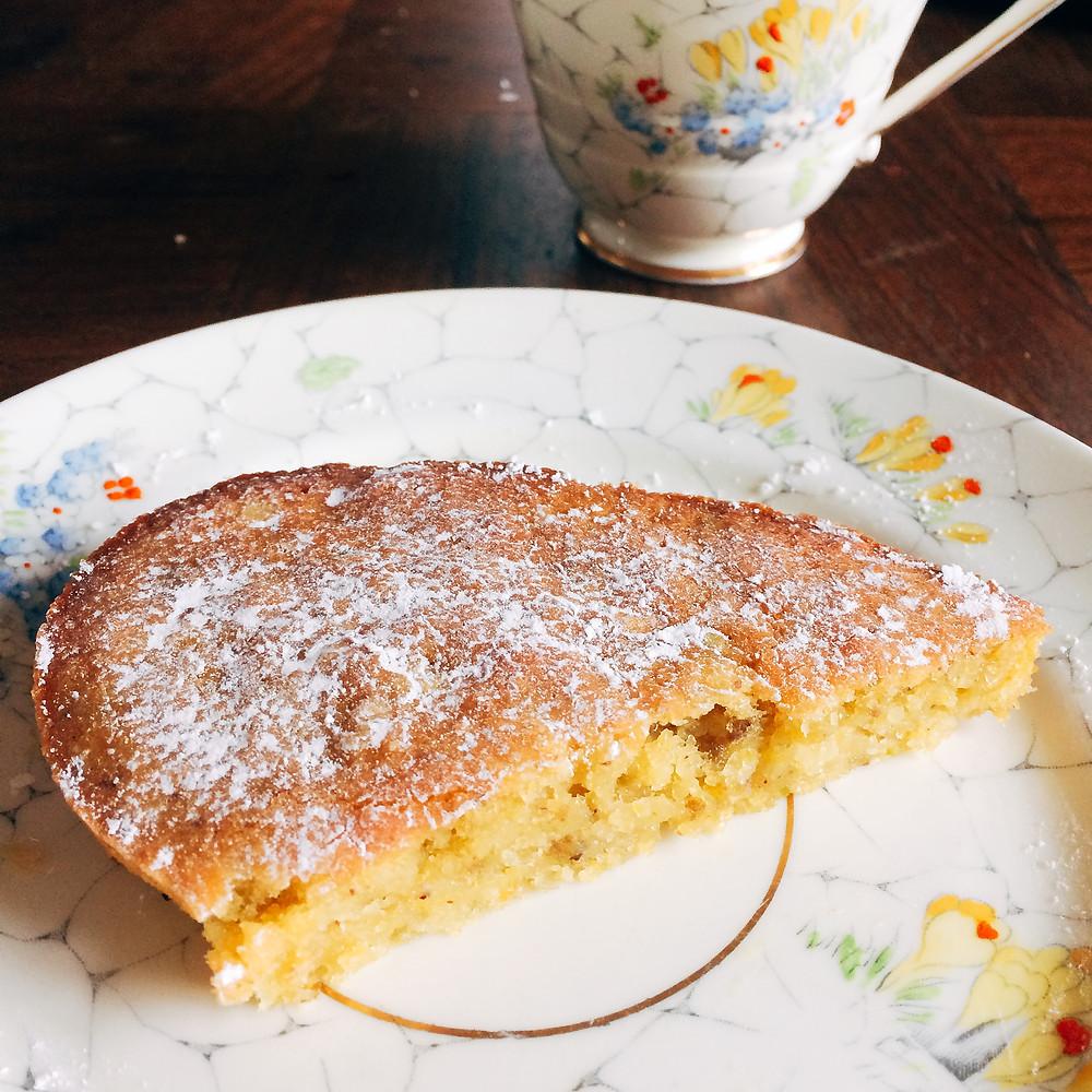 Orange, pistachio, almond and olive oil cake