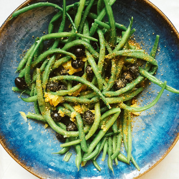 Green bean, preserved lemon, olive salad
