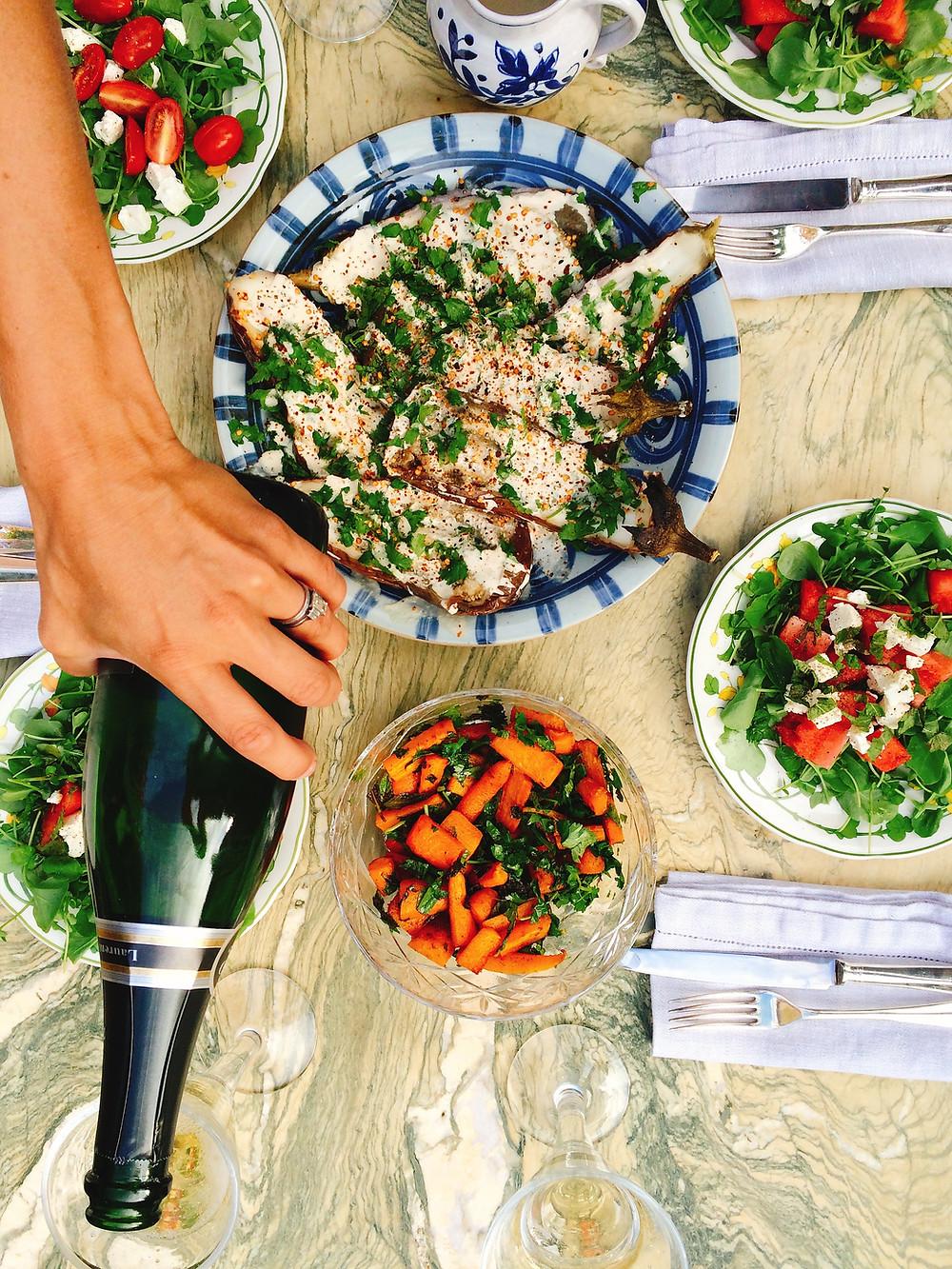 watermelon, feta and watercress salad