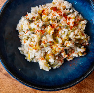 Leek and goats cheese risotto