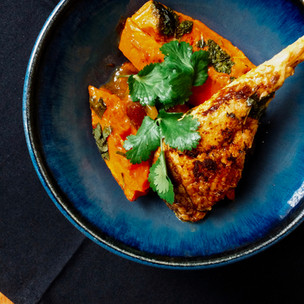 Chicken, squash and date tagine