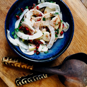 Fennel, apple and pomegranate salad