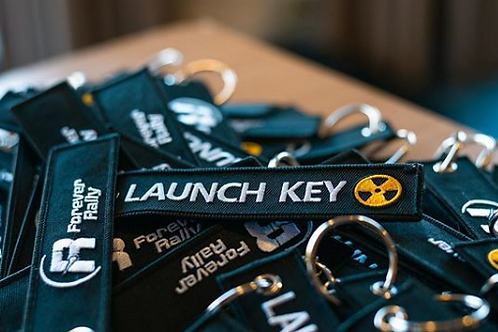 "Forever Rally ""Launch Key"" Key Ring"