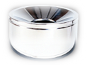 Short Ash Tray (table top) free standing stainless steel