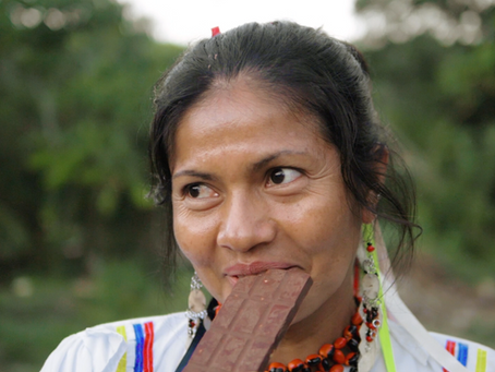La comunidad nativa Copal Sacha nos muestra su producto estrella, CHOCOLATE ARTESANAL con shica-shic