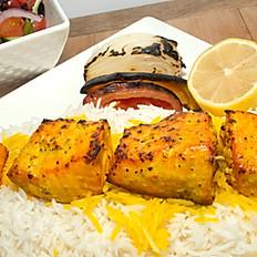 #20 - Salmon Kabob Plate