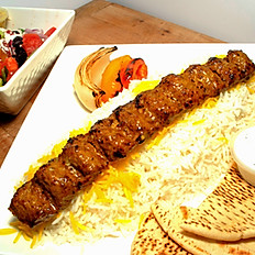 #6 - Ground Beef Kabob Plate - One Skewer