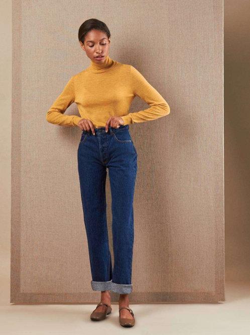 12STOREEZ джинсы прямые (темно-синий)