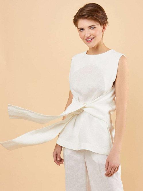 Блуза из льна (Белый