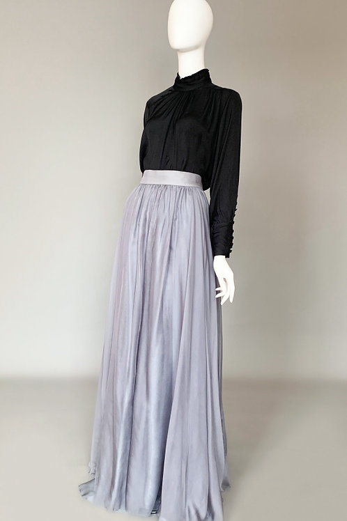 Дымчато-серая юбка макси
