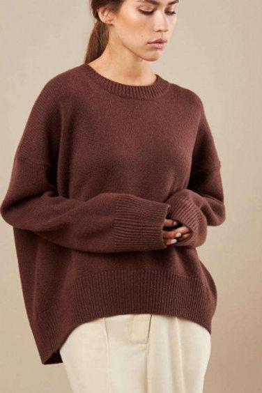 12STOREEZ свитер кашемировый (коричневый)