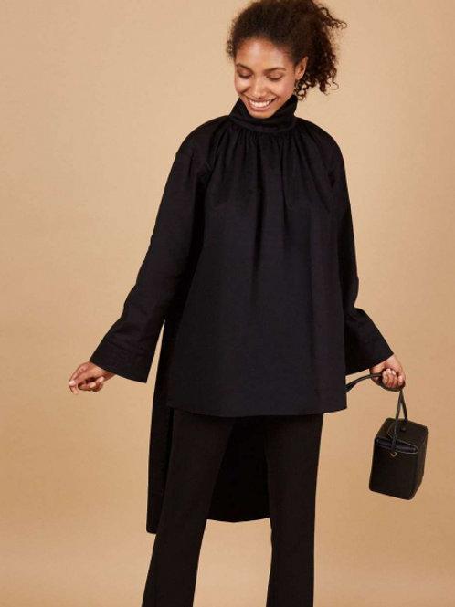 12STOREEZ Платье/блузка с воротником (черный)