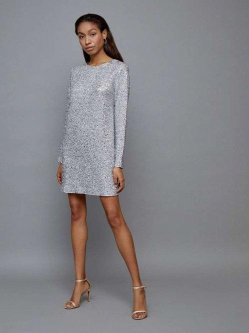 12STOREEZ Платье мини (Серебро)