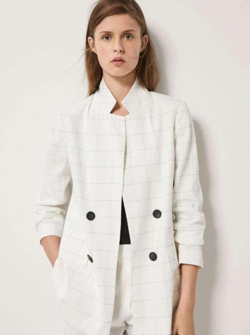 Massimo Dutti двубортный пиджак (Белый)