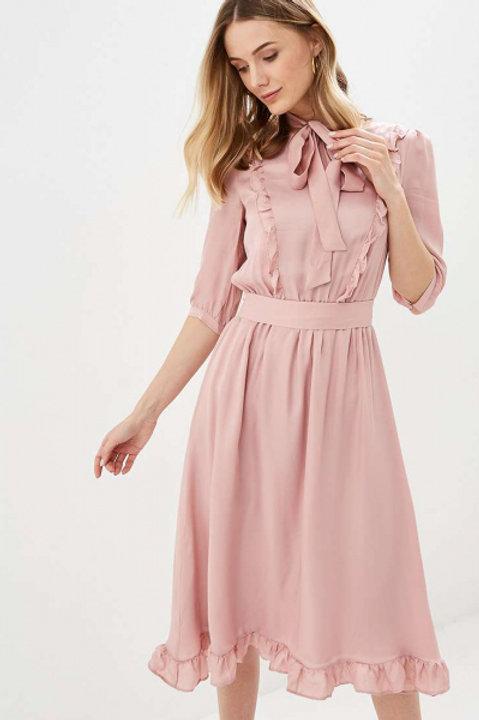 Akhmadullina Dreams платье с поясом (Розовое)