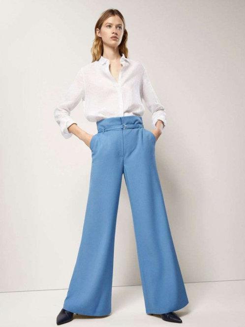 Massimo Dutti широкие брюки с поясом