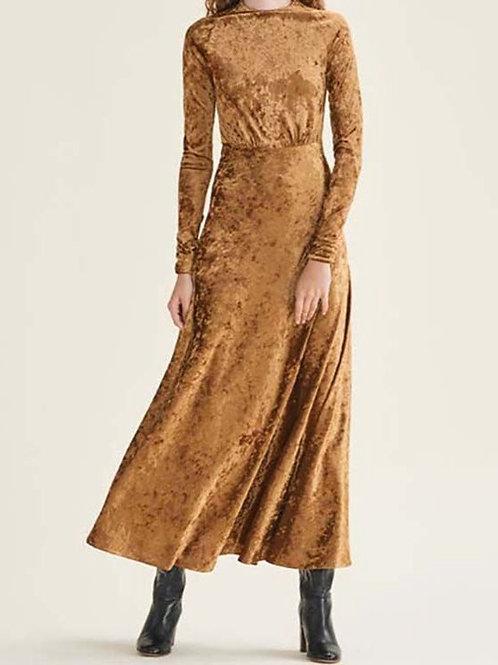 Бархатное платье Maje