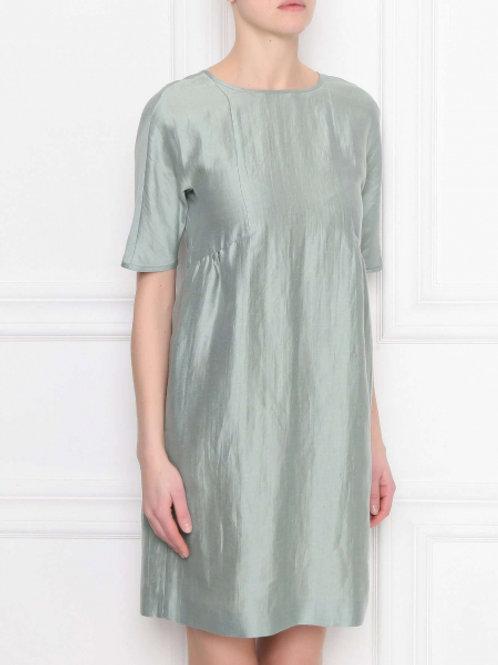 Weekend Max Mara Платье из льна и шелка (Зеленый)