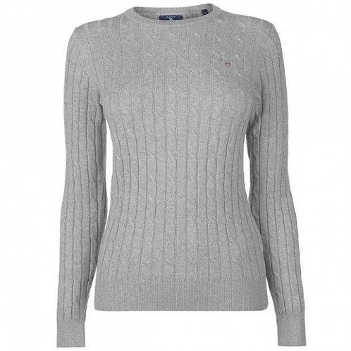 Gant пуловер из шерсти (Серый)
