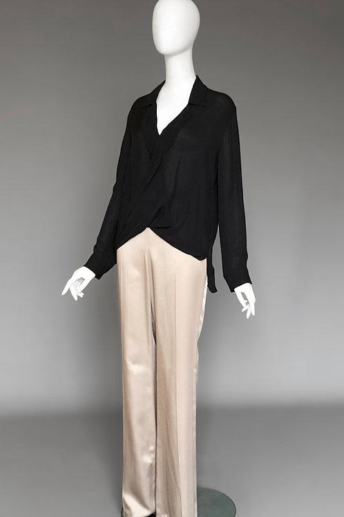 Широкие светлые брюки