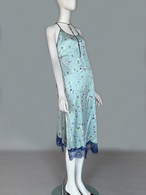 Платье-комбинация с синичками
