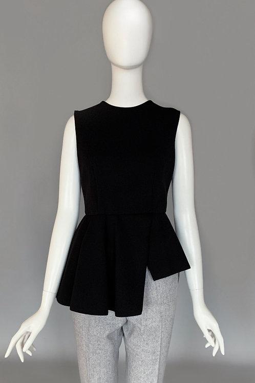 Блузка с баской из трикотажного полотна