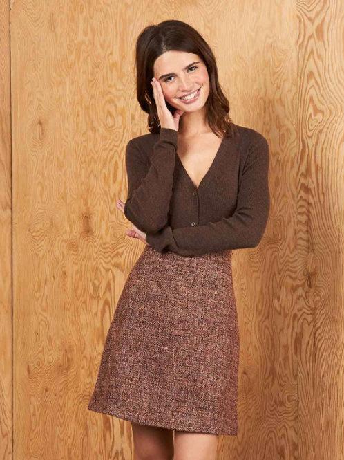 12STOREEZ юбка шерстяная (коричневый)