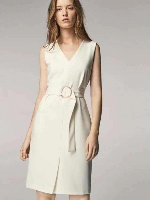 Massimo Dutti платье без рукавов (Белый)