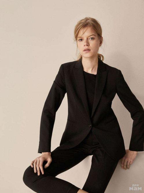 Massimo Dutti пиджак классический (Черный)