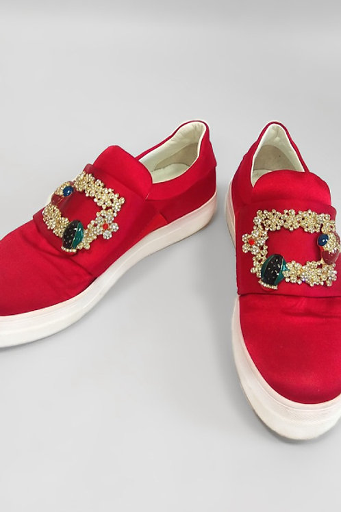 Красные текстильные слипоны