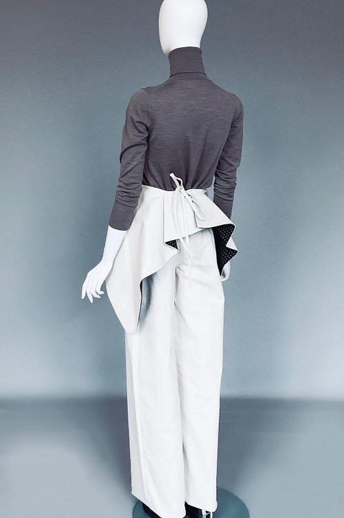 Новые широкие брюки с завышенной талией из джинсовой ткани с баской
