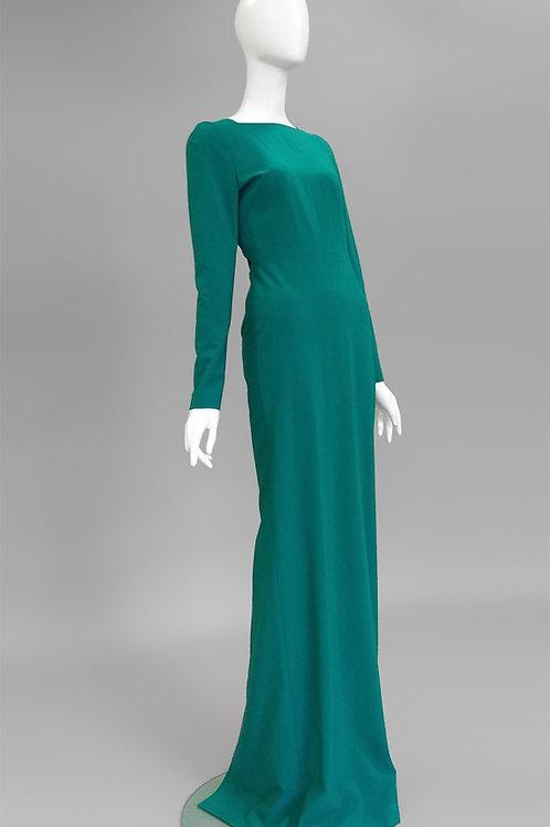 Платье в пол с вырезом на спине