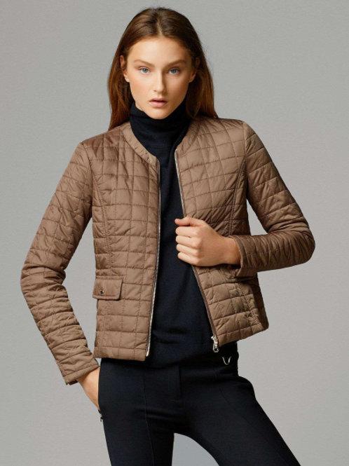 Massimo Dutti легкая куртка без воротника (коричневый)