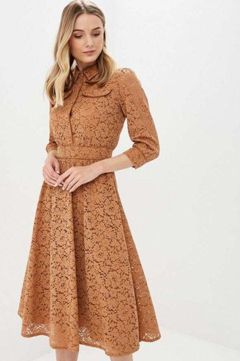 Akhmadullina Dreams платье кружевое (коричневый)