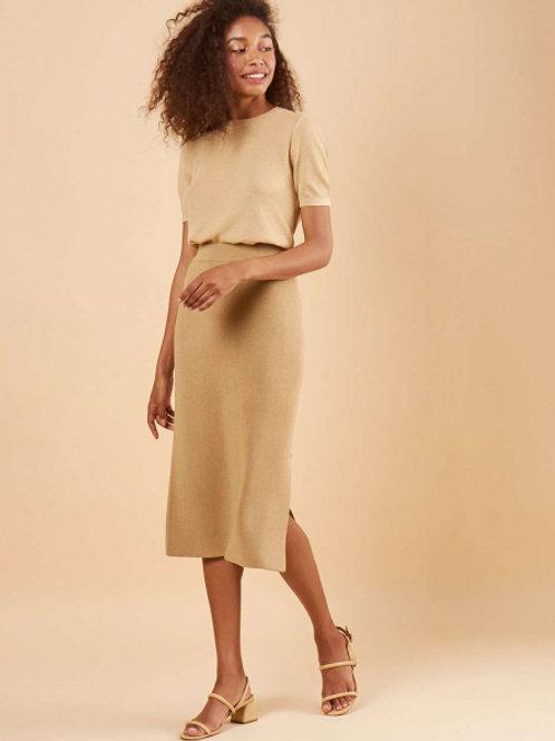 12STOREEZ трикотажная юбка (бежевый)